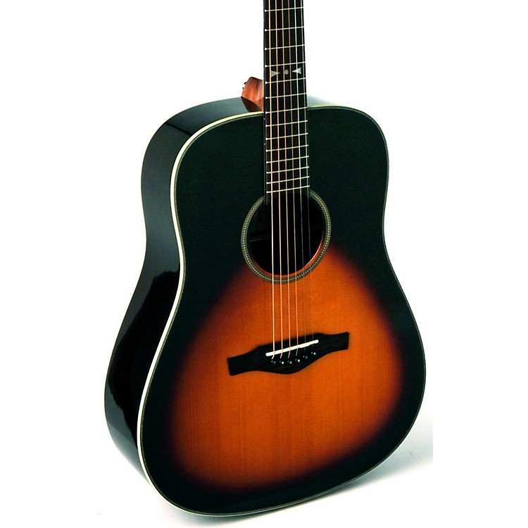 EKO EGO Series Star Dreadnought Acoustic-Electric Guitar Sunburst