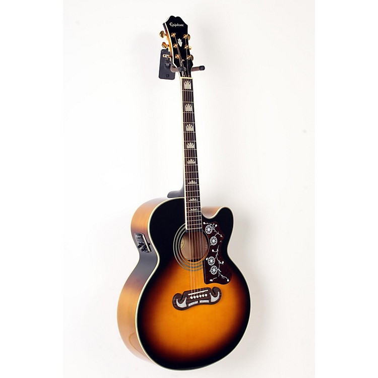 EpiphoneEJ-200SCE Acoustic-Electric GuitarVintage Sunburst888365901497