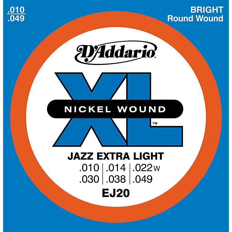 D'AddarioEJ20 Nickel Wound Jazz Extra Light Electric Guitar Strings