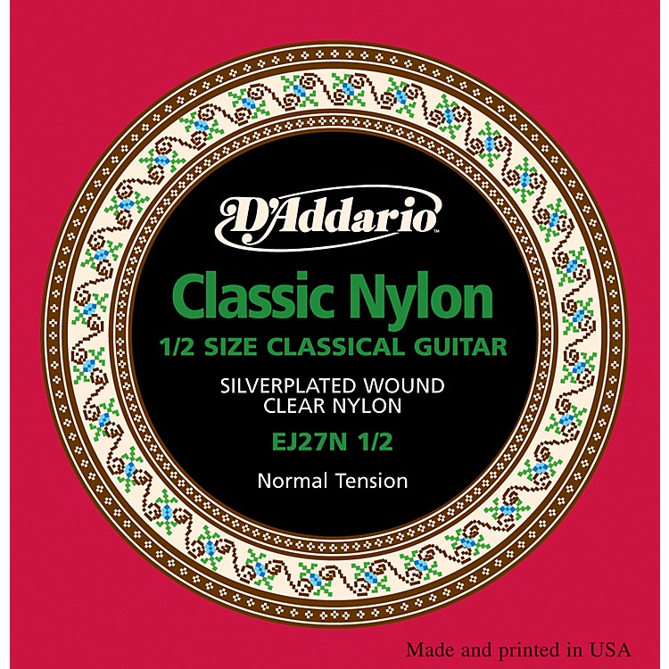 D'AddarioEJ27 Nylon Classical Guitar Strings - 1/2 Size