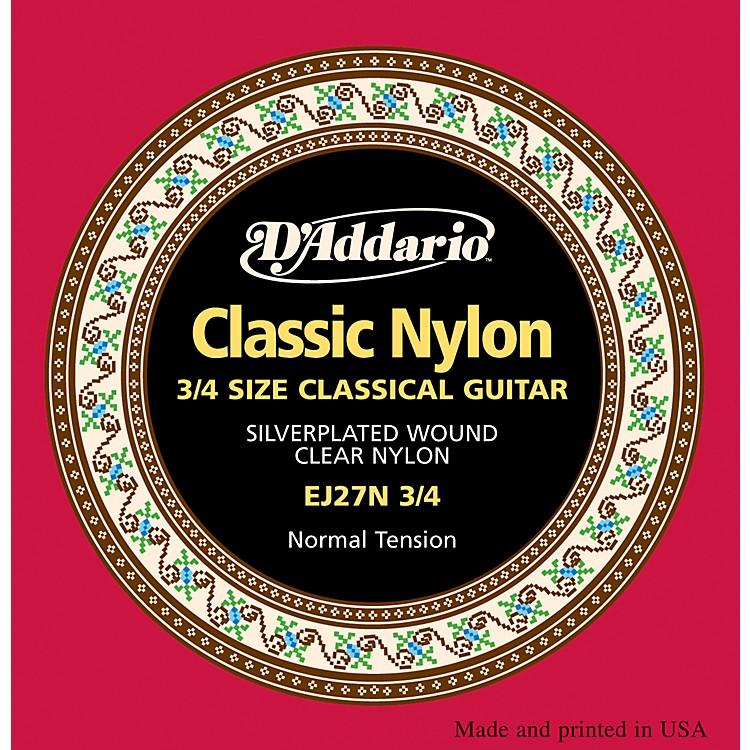 D'AddarioEJ27 Nylon Classical Guitar Strings - 3/4 Size