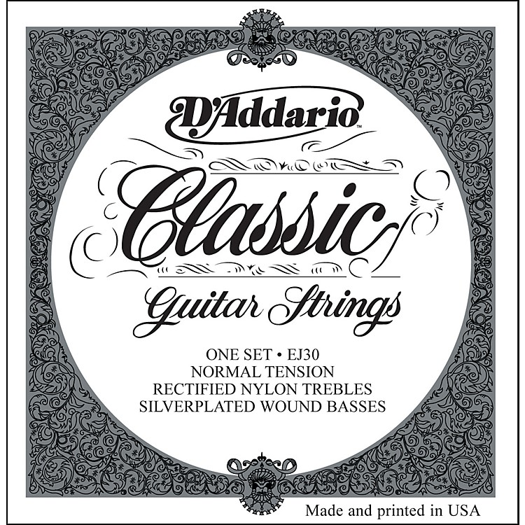 D'Addario EJ30 Rectified Classics Normal Tension Classical Guitar Strings Regular