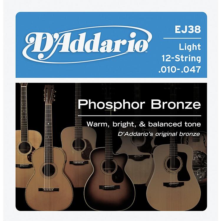 D'AddarioEJ38 12-String Phosphor Bronze Light Acoustic Guitar Strings