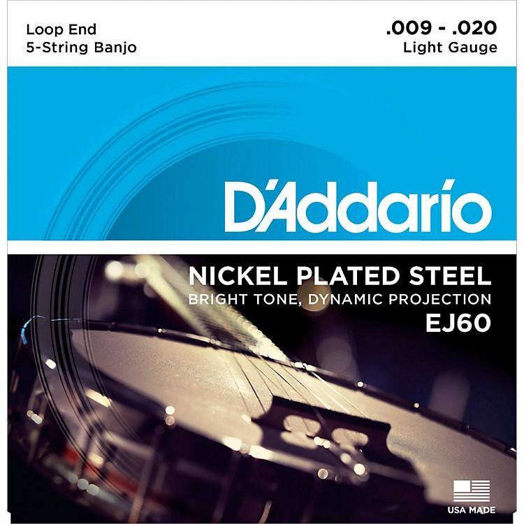 D'AddarioEJ60 Nickel 5-String Light Banjo Strings (9-20)