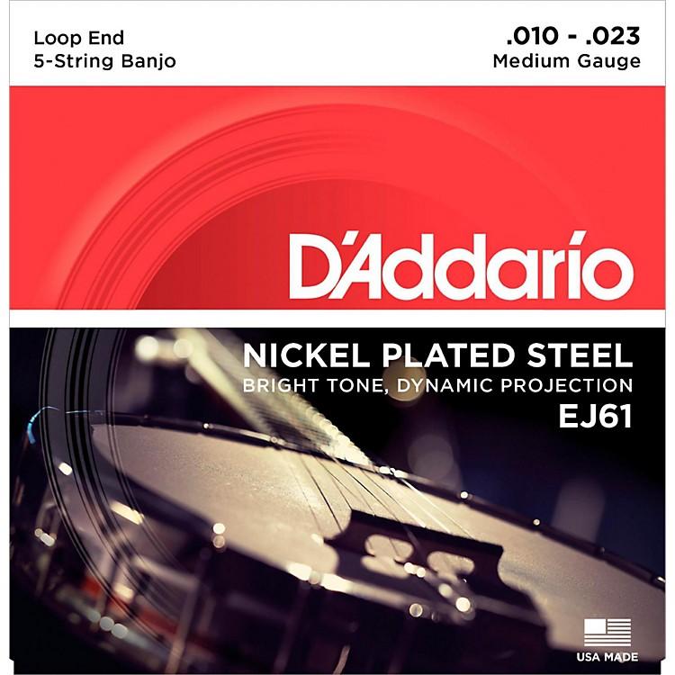 D'AddarioEJ61 Nickel 5-String Medium Banjo Strings (10-23)