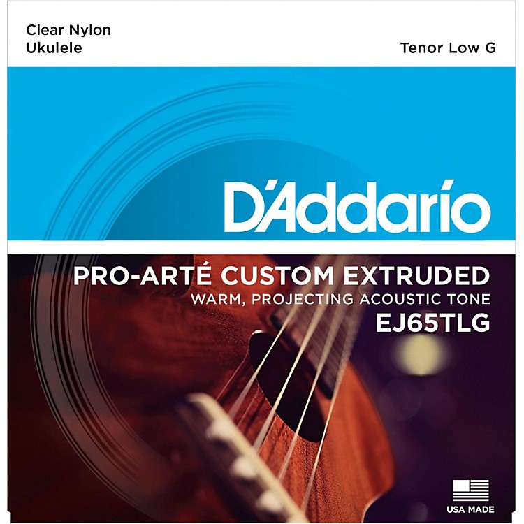 D'Addario EJ65TLG Pro-Arte Custom Extruded Tenor Low G Nylon Ukulele Strings