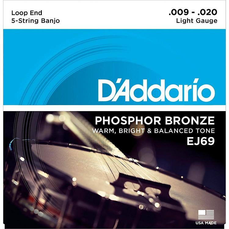 D'AddarioEJ69 Phosphor Bronze Light 5-String Banjo Strings (9-20)