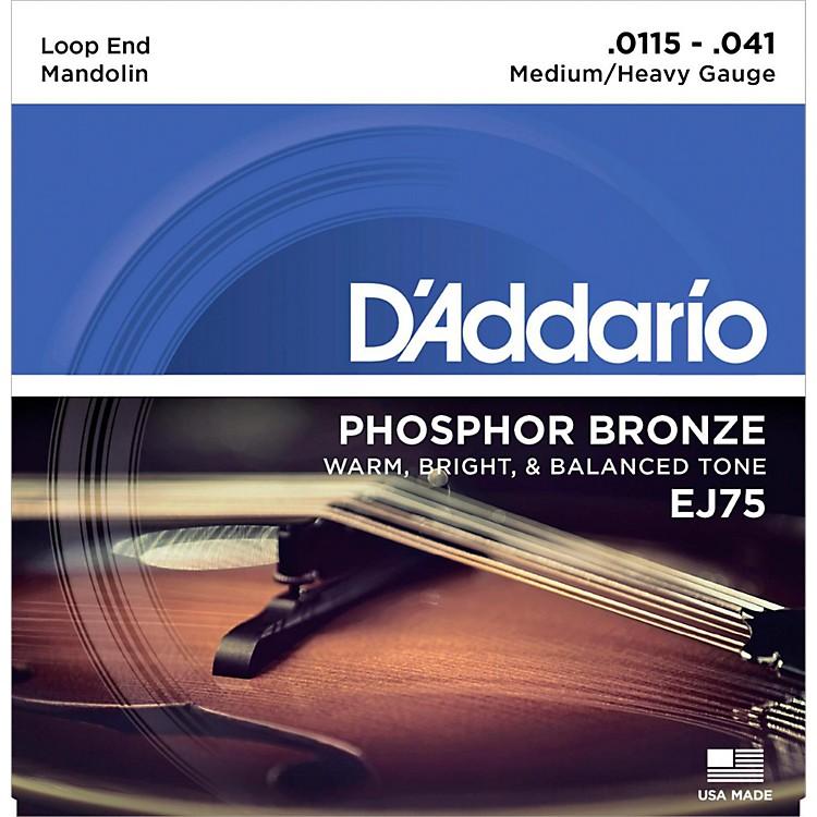 D'AddarioEJ75 Phosphor Bronze Medium/Heavy Mandolin Strings (11.5-41)
