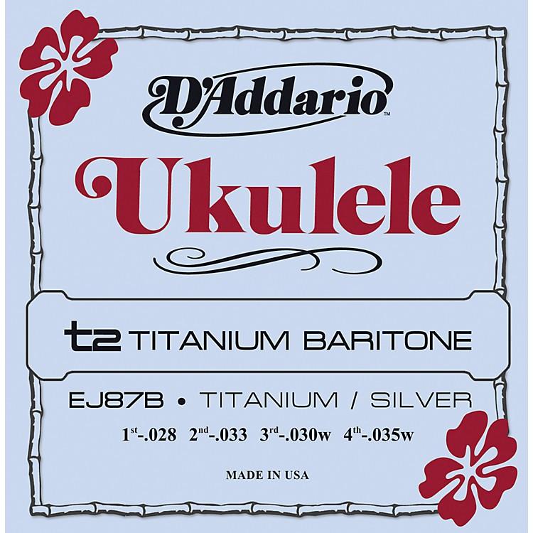 D'AddarioEJ87B Titanium Baritone Ukulele Strings