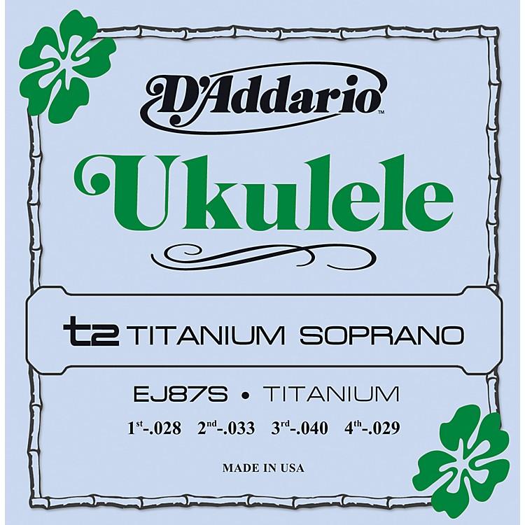 D'AddarioEJ87S Titanium Soprano Ukulele Strings