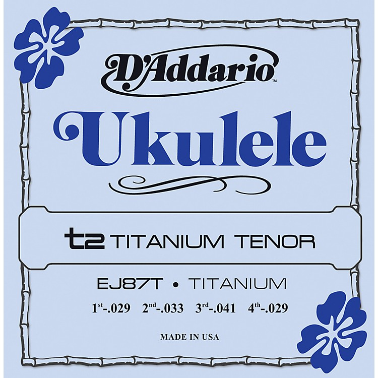 D'AddarioEJ87T Titanium Tenor Ukulele Strings