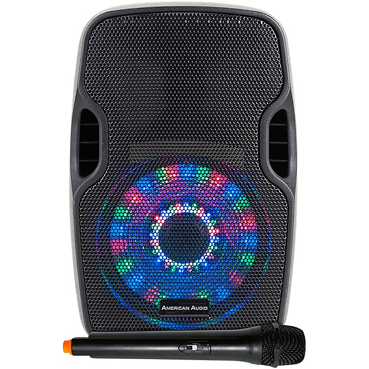 American Audio ELS 8 GO LTW Portable Battery-powered 8 in. PA Speaker with LEDs and Mic