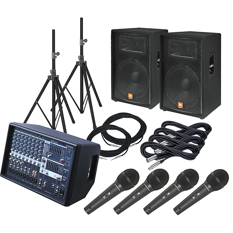 YamahaEMX512SC / JBL JRX115 PA Package with AT M4000S Mics