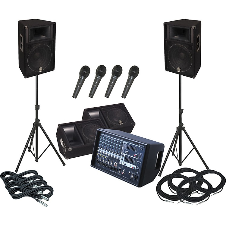 YamahaEMX512SC / S115V PA Package with Monitors