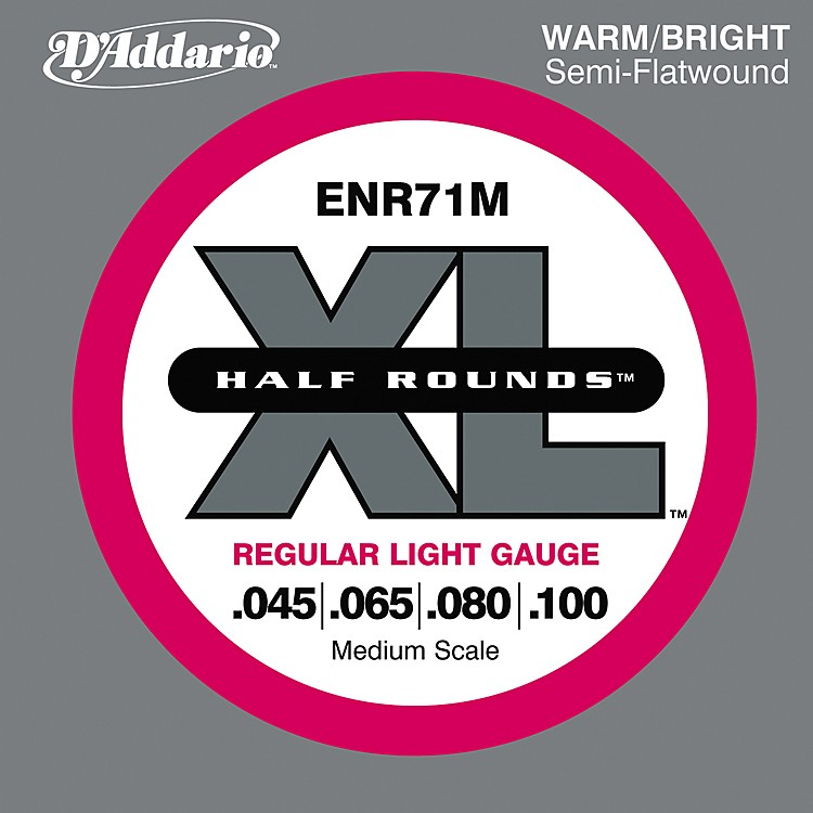 D'AddarioENR71M Half Rounds Light Bass Strings