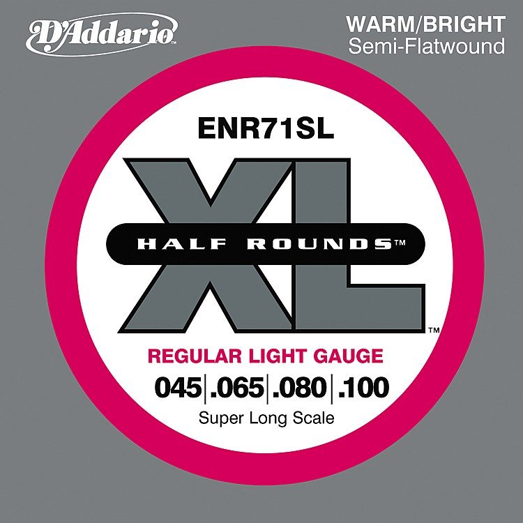 D'AddarioENR71SL Half Rounds Light Bass Strings