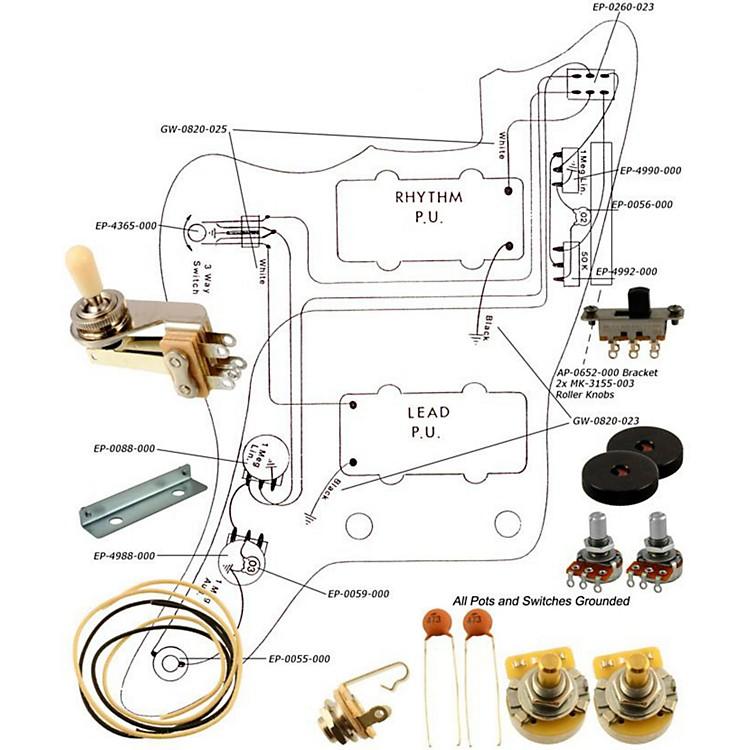 AllpartsEP-4135-000 Wiring Kit for Jazzmaster