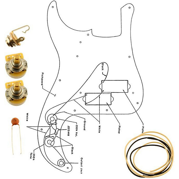 AllpartsEP-4139-000 Wiring Kit for Precision Bass