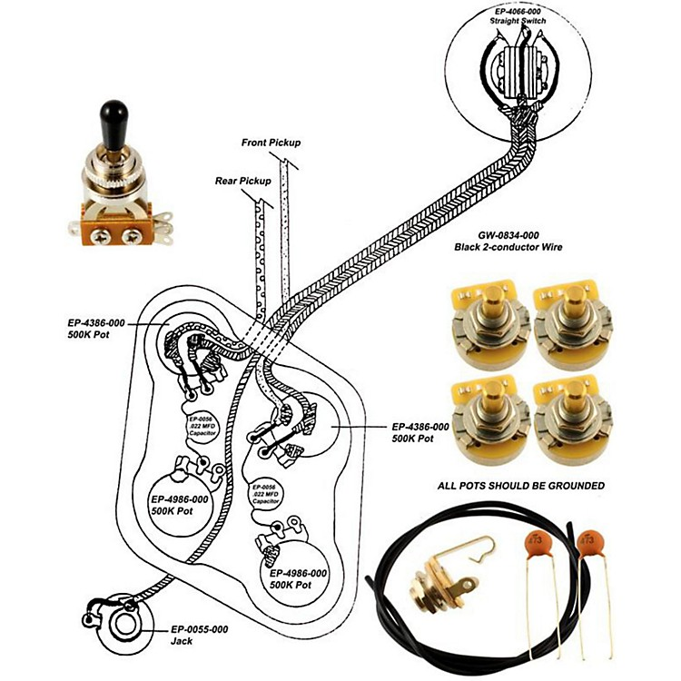 epiphone bass guitar wiring diagram allparts ep-4148-000 wiring kit for epiphone | music123 epiphone dot guitar wiring diagram