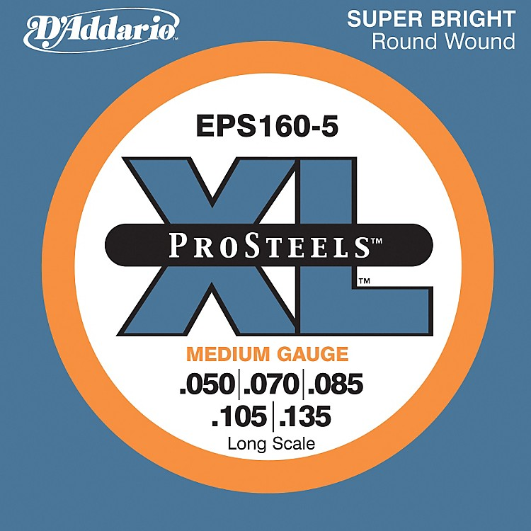 D'AddarioEPS160-5 Pro Steels Medium Gauge Long Scale 5-String Bass Strings