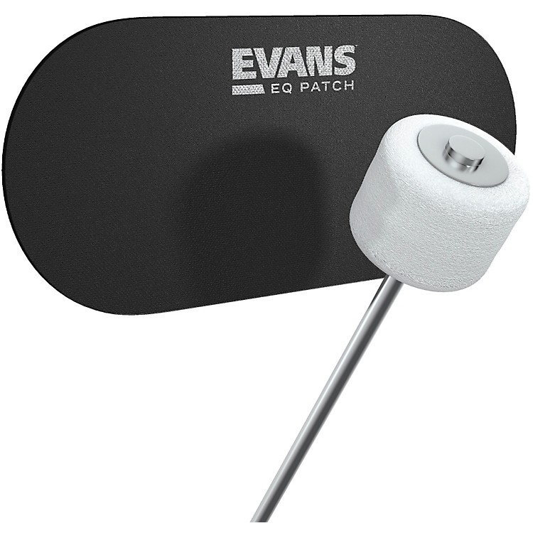 Evans EQ Double Bass Drum Patch Black