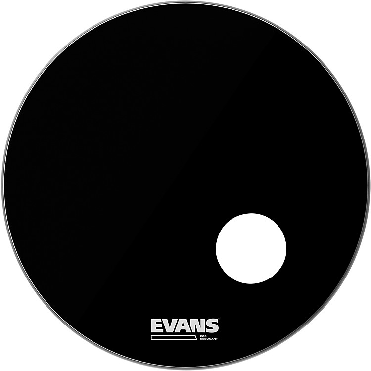 Evans EQ3 Black Resonant Bass Drumhead 26 in.