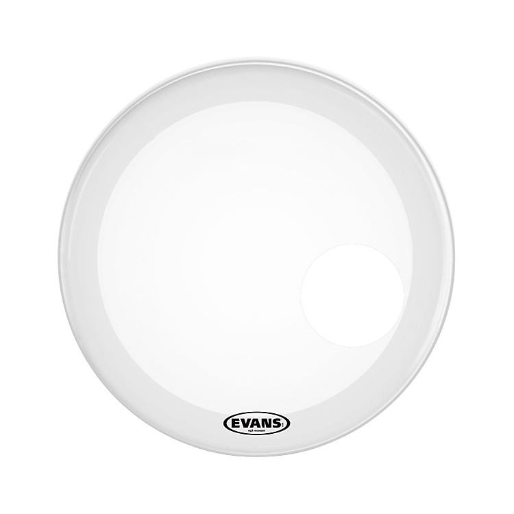 Evans EQ3 Coated White Resonant Bass Drumhead White 22