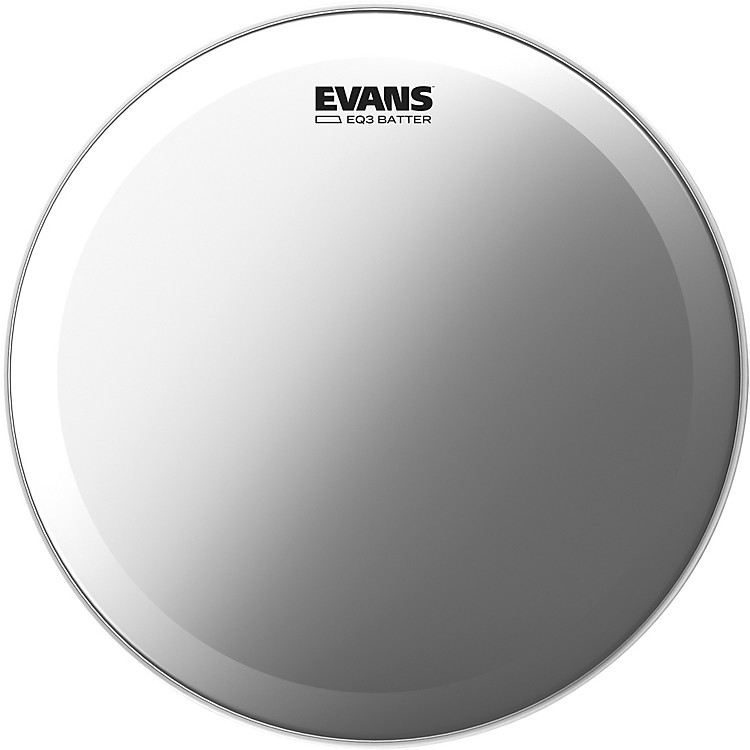 Evans EQ3 Frosted Bass Drum Head 22 in.