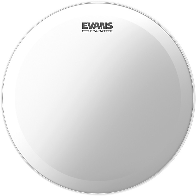 Evans EQ4 Batter Frosted Bass Drumhead  18 in.