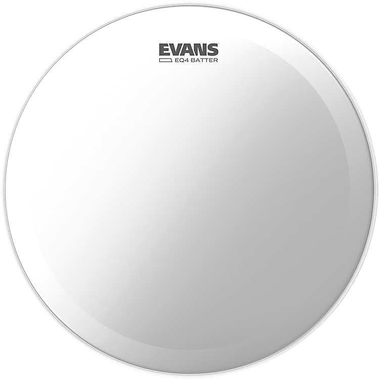 Evans EQ4 Batter Frosted Bass Drumhead  24 in.