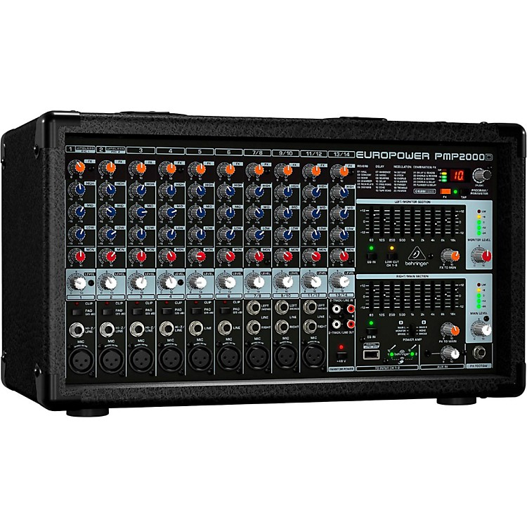 BehringerEUROPOWER PMP2000D 2,000W 14-Channel Powered Mixer with Multi-FX Processor