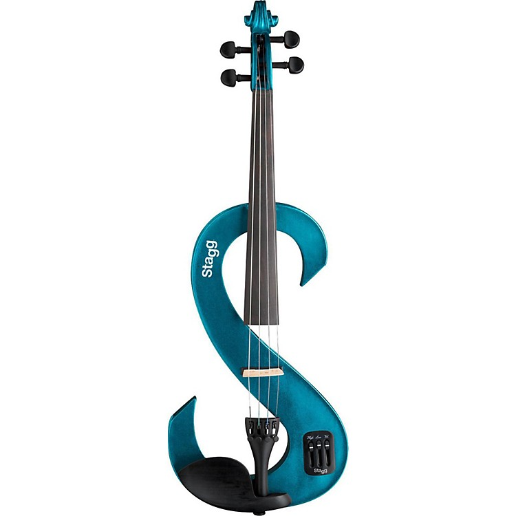 Stagg EVN 44 Series Electric Violin Outfit 4/4 Metallic Blue