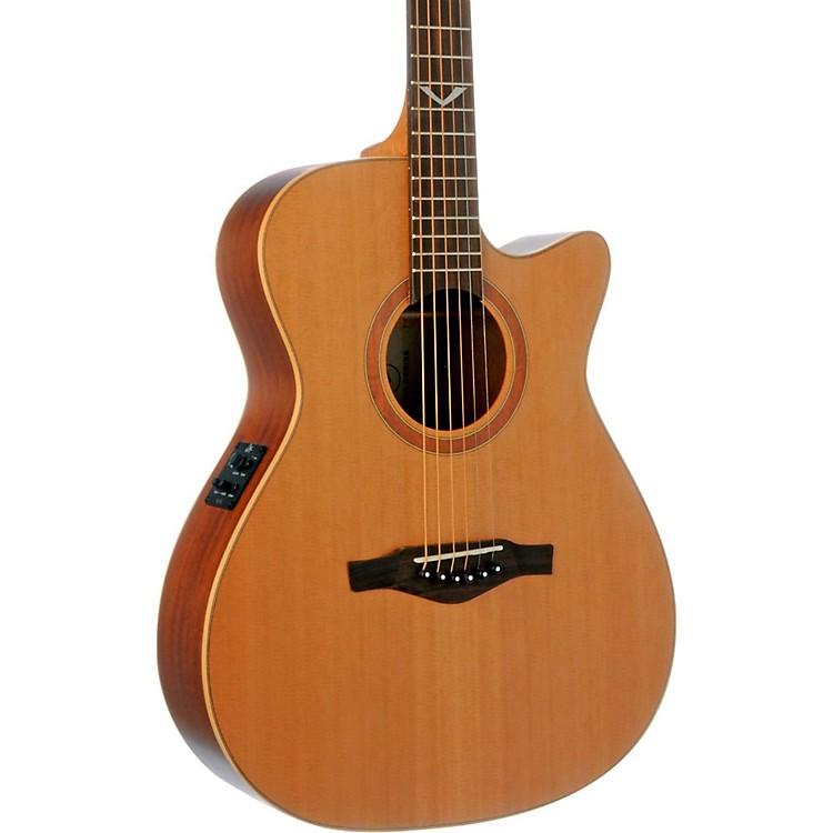 EKOEVO Series Auditorium Cutaway Acoustic-Electric GuitarNatural