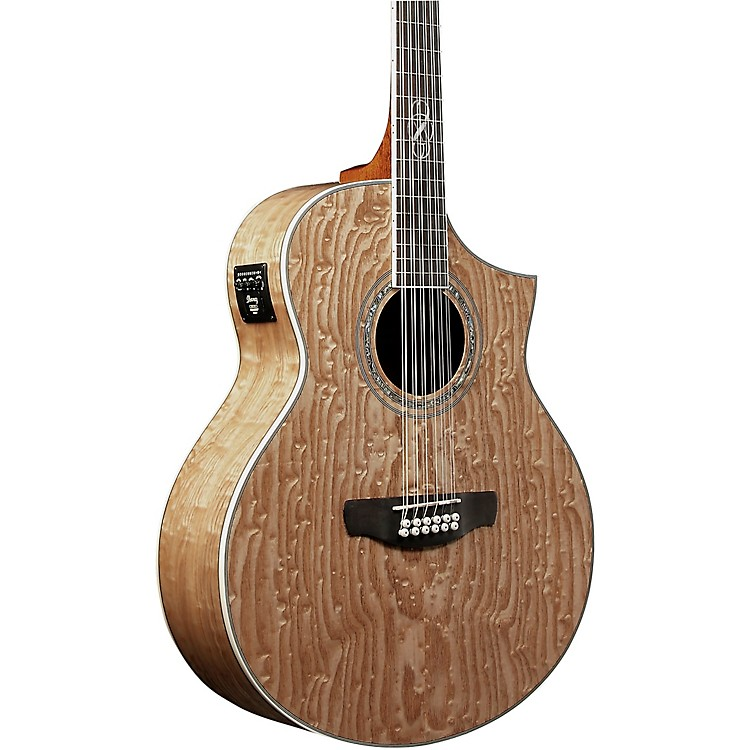Ibanez EW2012ASENT 12-String Exotic Wood Acoustic-Electric Guitar Gloss Natural