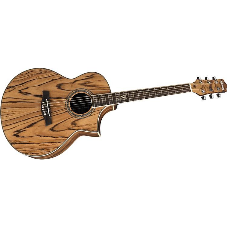 IbanezEW20ZWE EXOTIC WOOD SERIES Zebrawood Acoustic-Electric Guitar