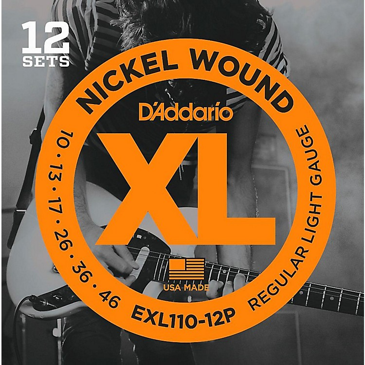 d 39 addario exl110 12p nickel wound light electric guitar string 12 pack music123. Black Bedroom Furniture Sets. Home Design Ideas