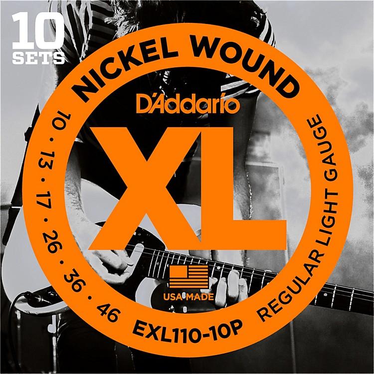 D'AddarioEXL110 Nickel Light Electric Guitar Strings 10-Pack