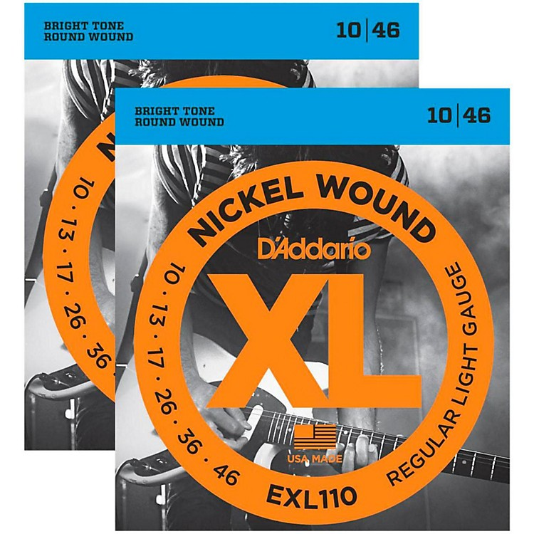 D'AddarioEXL110 Nickel Wound Light Electric Guitar Strings Two-Pack