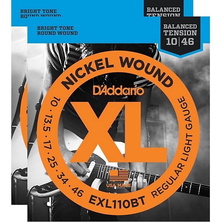 D'AddarioEXL110BT Balanced Tension Lite Electric Guitar Strings (2-Pack)
