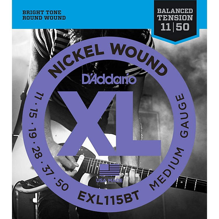 D'AddarioEXL115BT Balanced Tension Medium Electric Guitar Strings - Single Pack