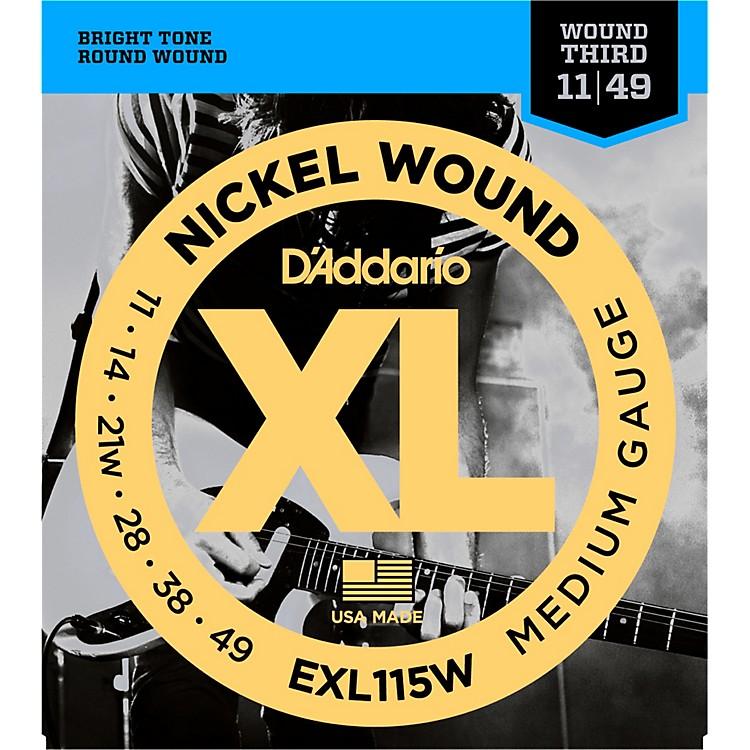 D'AddarioEXL115W Nickel Blues/Jazz Wound 3rd Electric Guitar Strings