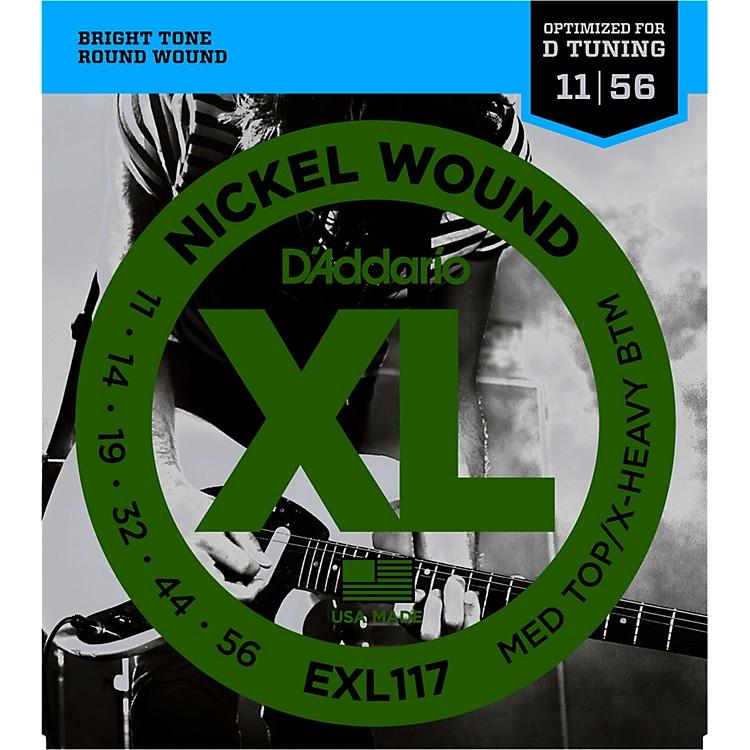 D'AddarioEXL117 Medium Top/Extra-Heavy Bottom, Nickel-Wound Electric Guitar Strings