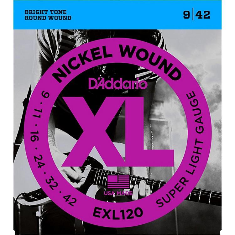 D'AddarioEXL120 Nickel Super Light Electric Guitar Strings Single-Pack