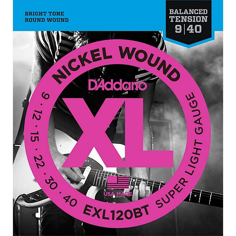D'AddarioEXL120BT Balanced Tension X-Lite Electric Guitar Strings Single-Pack