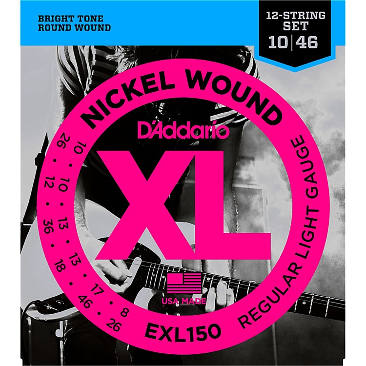 D'AddarioEXL150 Nickel XL 12-String Electric Guitar Strings