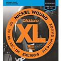 D'Addario EXL160-5 XL 5-String Bass Regular/Long String Set