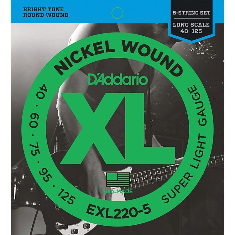 D'AddarioEXL220-5 XL 5-String Bass Super Soft/Long String Set