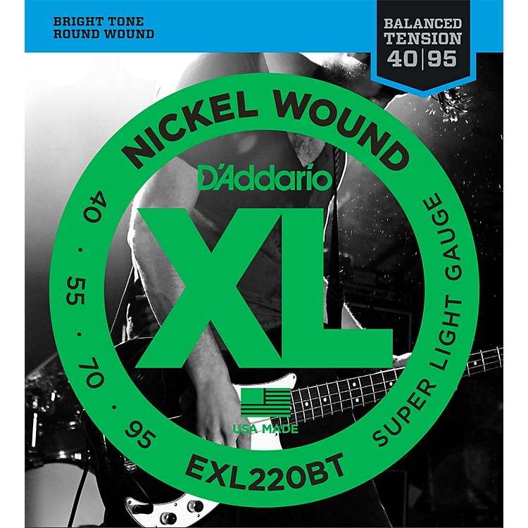 D'AddarioEXL220BT Balanced Tension 40-95 Long Scale Electric Bass String Set
