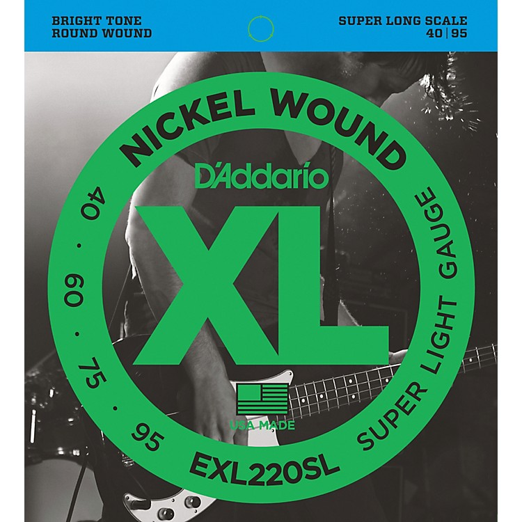 D'Addario EXL220SL Super Light Nickel Wound Super Long Scale Bass Strings