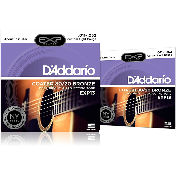D'Addario EXP13 Coated Electric Super Light Guitar Strings 2-Pack